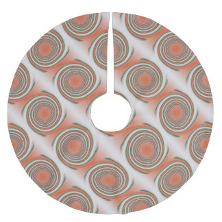 Spiral bound brushed polyester tree skirt