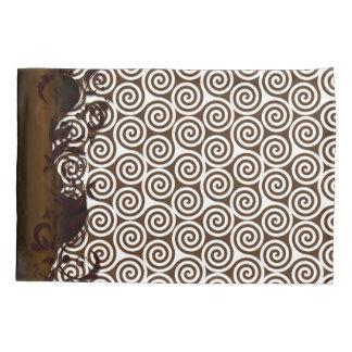 Spiral Brown & White Pillowcase