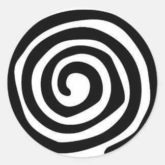 Spiral Classic Round Sticker