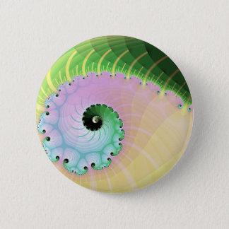 Spiral Curl 2 Inch Round Button