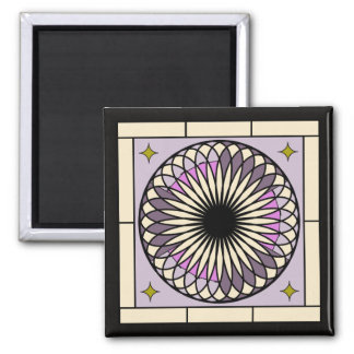 Spiral Deco Purple Design Magnet