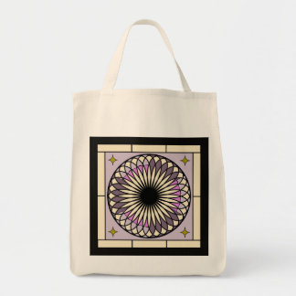 Spiral Deco Purple Design Tote Bag