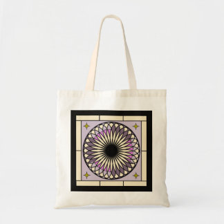 Spiral Deco Purple Design Tote Bag