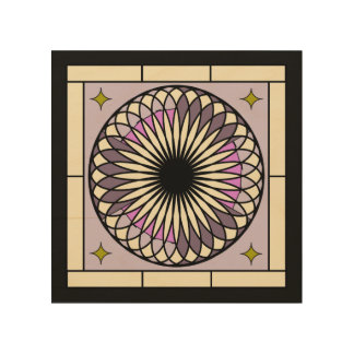 Spiral Deco Purple Design Wood Wall Art