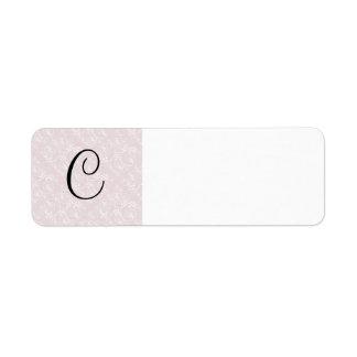 Spiral Design with Pink Fabric Return Address Label
