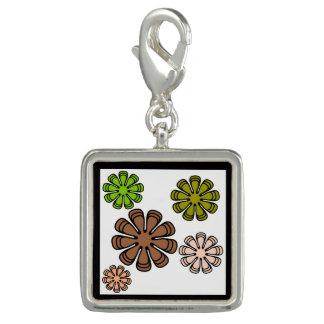 Spiral Flower Camouflage Art Charm
