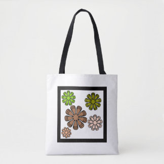 Spiral Flower Camouflage Art Tote Bag