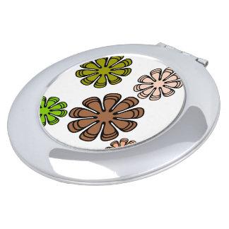 Spiral Flower Camourflage Art Makeup Mirror