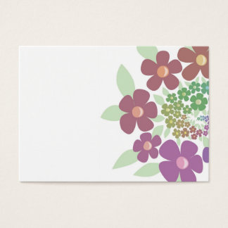 Spiral Flowers in pastel colors Business Card