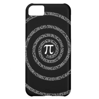 Spiral for Pi Digits on Black iPhone 5C Cover