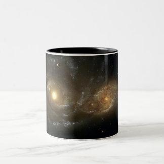 Spiral Galaxies NGC 2207 & IC 2163 Two-Tone Coffee Mug