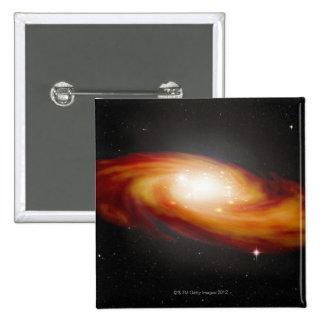 Spiral Galaxy 3 2 Inch Square Button