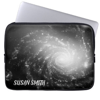 Spiral Galaxy (black and white) Laptop Sleeve