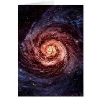 Spiral galaxy card