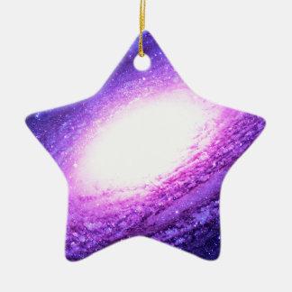 Spiral galaxy ceramic star ornament