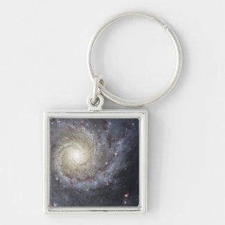 Spiral galaxy M74 Keychain