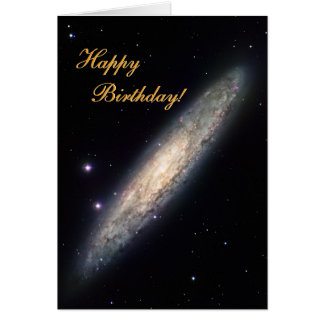 Spiral Galaxy - NGC 253 Card