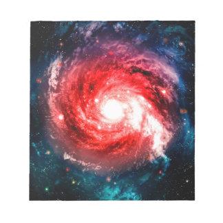 Spiral galaxy notepads