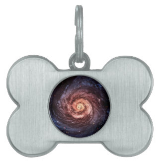 Spiral galaxy pet name tag