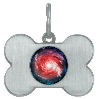Spiral galaxy pet tag