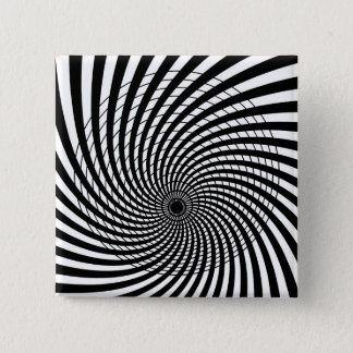 SPIRAL GEOMETRIC OP ART Button