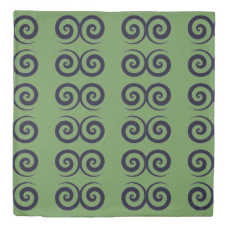 Spiral Green Duvet Cover