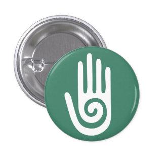 Spiral Hand healing hands 1 Inch Round Button