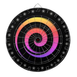 Spiral Hypnotic Colors Regulation Size Dart Board