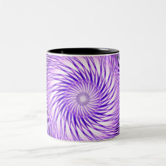 Spiral Illusion Mandala Two-Tone Coffee Mug