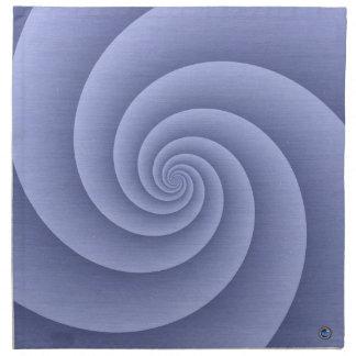 Spiral in Blue Brushed Metal Texture Print Napkin