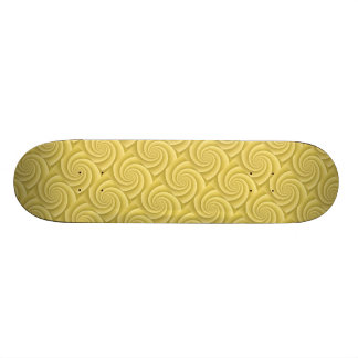 Spiral in Gold Brushed Metal Texture Print Custom Skate Board
