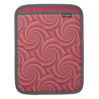 Spiral in Red Brushed Metal Texture Print iPad Sleeve