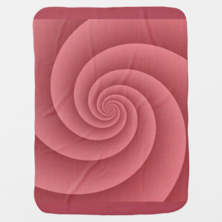Spiral in Red Brushed Metal Texture Print Swaddle Blankets