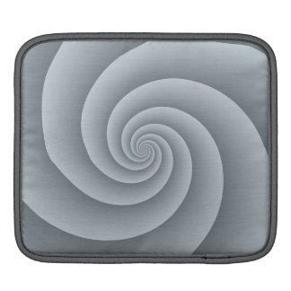 Spiral in Silver Brushed Metal Texture Print iPad Sleeve