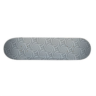 Spiral in Silver Brushed Metal Texture Print Skate Board Deck