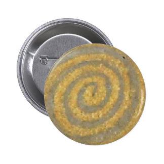 Spiral Klimt Gold Art Nouveau Pattern Button