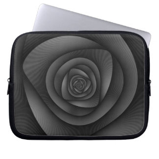 Spiral Labyrinth in Monochrome Laptop Sleeve
