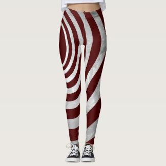 Spiral line texture leggings