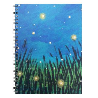 Spiral Lined Notebook   Firefly Journal