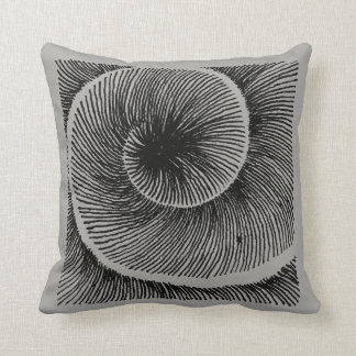 Spiral LINEs grey Throw Pillow