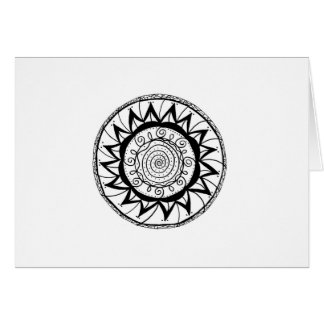 Spiral Mandala Flower Card