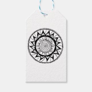 Spiral Mandala Flower Gift Tags