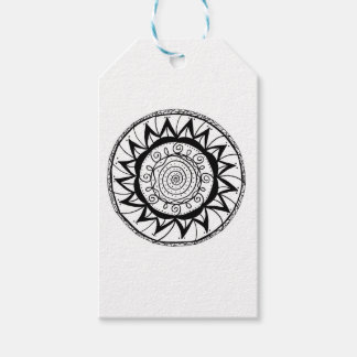 Spiral Mandala Flower Pack Of Gift Tags