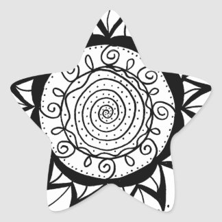 Spiral Mandala Flower Star Sticker