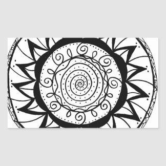Spiral Mandala Flower Sticker