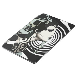 Spiral melting woman tablet ipad cover