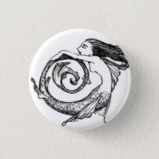 Spiral Mermaid 1 Inch Round Button