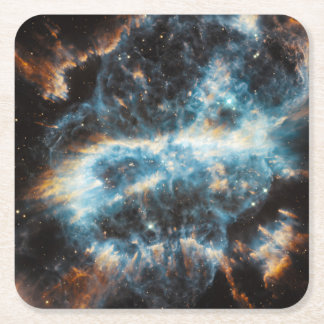 Spiral Nebula Space Square Paper Coaster