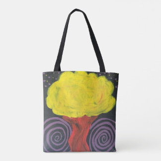 Spiral Night Tree Tote Bag