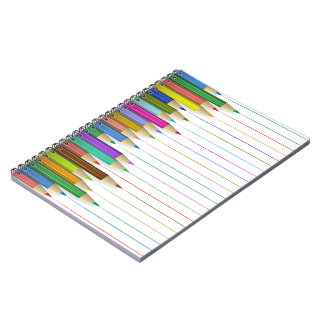 Spiral Notebook - Colored Pencil Lines